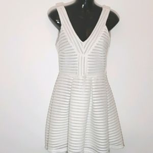 Just Me White Fit and Flare Dress, Size 6-8